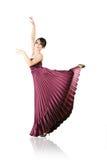 Het dansen van de vrouw klassiek ballet Stock Afbeelding