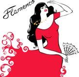 Het dansen van het meisje flamenco Royalty-vrije Stock Foto
