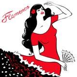 Het dansen van het meisje flamenco Royalty-vrije Stock Afbeeldingen