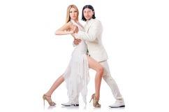 Het dansen van het paar dansen Stock Afbeelding
