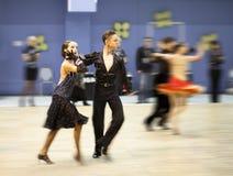 Het dansen van het paar de sportconcurrentie Stock Foto