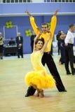 Het dansen van het paar de sportconcurrentie Stock Afbeeldingen