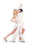 Het dansen van het paar geïsoleerdet dansen Stock Afbeeldingen