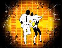 Het dansen van het paar vector royalty-vrije illustratie