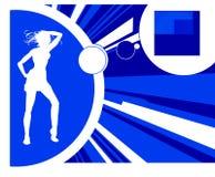 Het dansen van het silhouet vector illustratie