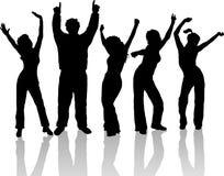 Het dansen van mensen Stock Afbeelding