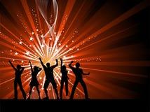 Het dansen van mensen   royalty-vrije illustratie