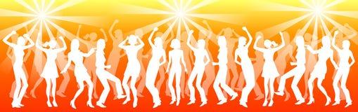 Het dansen van mensen Stock Foto