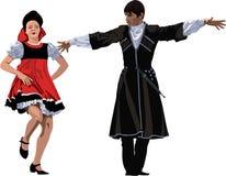 Het dansen van Rusland en van Georgië Stock Illustratie