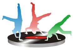 Het dansen van tieners Royalty-vrije Stock Foto's