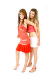 Het Dansen van vrienden Stock Foto's