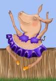 Het dansen varken Stock Foto