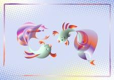 Het dansen vissen vector illustratie