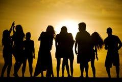 Het dansen zonsondergang Royalty-vrije Stock Foto