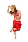 Het dansende meisje Stock Fotografie