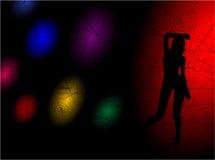 Het dansende meisje Stock Foto