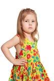 Het dansende meisje van 3.5 jaar Royalty-vrije Stock Fotografie