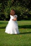 Het dansende Meisje van de Bloem Stock Foto