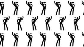 Het dansende naadloze videopatroon van de pictogramvrouw stock illustratie