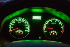 Het dashboard van de auto stock afbeelding