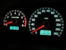 Het dashboard van de auto Stock Foto