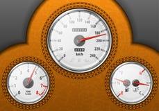Het Dashboard van de auto royalty-vrije illustratie