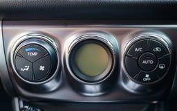 Het dashboard van de auto Airconditioningssysteem Stock Afbeeldingen