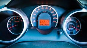 Het dashboard van de close-upauto Stock Foto