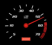 Het Dashboard van de snelheid Stock Foto