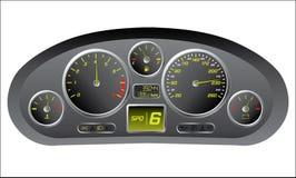 Het dashboard van de sportwagen Stock Afbeelding