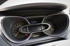 Het dashboard van Renault CAPTUR op 21 Mei 2014 in Hong Kong Stock Foto