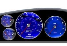 Het dashboardsnelheidsmeter van de auto voor motor of sportscar Stock Afbeeldingen