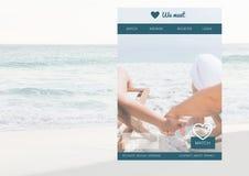 Het dateren van App Interface stock fotografie