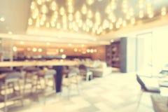 Het de abstracte winkel en restaurant van de onduidelijk beeldkoffie Royalty-vrije Stock Afbeelding