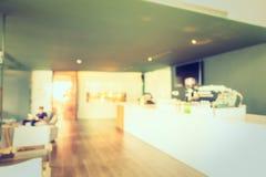 Het de abstracte winkel en restaurant van de onduidelijk beeldkoffie Royalty-vrije Stock Foto