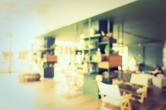 Het de abstracte winkel en restaurant van de onduidelijk beeldkoffie Stock Afbeeldingen