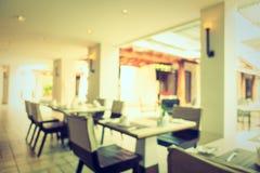 Het de abstracte winkel en restaurant van de onduidelijk beeldkoffie Royalty-vrije Stock Afbeeldingen
