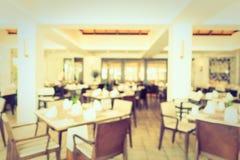 Het de abstracte winkel en restaurant van de onduidelijk beeldkoffie Stock Fotografie