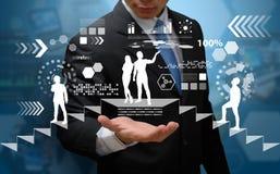 Het de achtergrond van de technologiecomputer Royalty-vrije Stock Fotografie