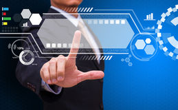 Het de achtergrond van de technologiecomputer Royalty-vrije Stock Foto's