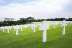 Het de Amerikaanse Begraafplaats en Gedenkteken van Manilla Royalty-vrije Stock Foto's