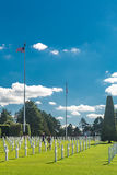 Het de Amerikaanse Begraafplaats en Gedenkteken van Normandië Royalty-vrije Stock Afbeeldingen
