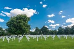 Het de Amerikaanse Begraafplaats en Gedenkteken van Normandië Royalty-vrije Stock Afbeelding