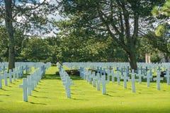 Het de Amerikaanse Begraafplaats en Gedenkteken van Normandië Stock Foto
