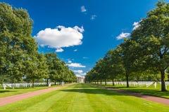 Het de Amerikaanse Begraafplaats en Gedenkteken van Normandië Royalty-vrije Stock Foto's