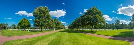 Het de Amerikaanse Begraafplaats en Gedenkteken van Normandië Stock Foto's