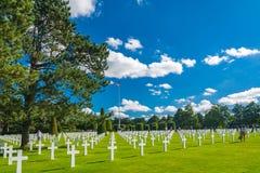 Het de Amerikaanse Begraafplaats en Gedenkteken van Normandië Stock Afbeeldingen