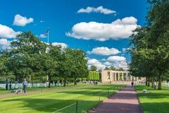 Het de Amerikaanse Begraafplaats en Gedenkteken van Normandië Royalty-vrije Stock Foto