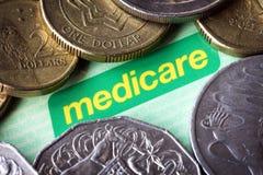 Het de Australische Kaart en Geld van Gezondheidszorg voor bejaarden royalty-vrije stock afbeeldingen