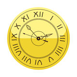 Het de cirkelteken van de muurklok met het hulpmiddel van de chronometerwijzer en van het de snelheidsbureau van de uiterste term Royalty-vrije Stock Afbeeldingen